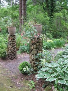 20 Amazing Gabion Ideas for Your Outdoor Area.  This could be fun with the thousands of small rocks we have around the yard.