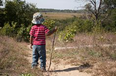Every child should have the opportunity to follow a trail - ride it or walk it! - Kettle Moraine State Park-