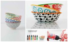 Pretty Patterned Bowls   50 DIY Anthropologie Hacks For Every Facet Of Your Life