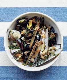 Mussels and Clams With Chili-Lemon Oil.