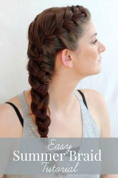 Easy summer braid tutorial