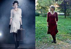 Dark red crochet dress inspired by Vanessa Montoro.