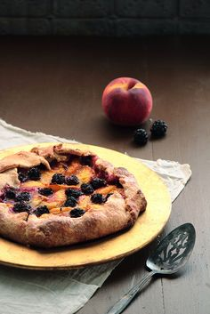 peach & blackberry galette