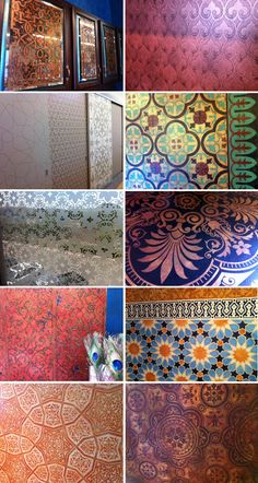 Stencils, patterns, and finishes from around our studio
