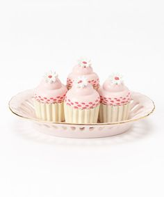 Take a look at this Pink Doll Cupcake & Oval Plate Set by The Queen's Treasures on #zulily today!
