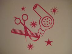 Hair Stylist Beauty Salon Pink Decal sticker Car. $3.99, via Etsy.