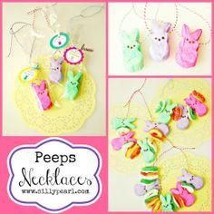 marshmallow peeps necklaces # expressyourpeepsonality tag peep necklac