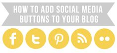 How to add social media buttons (or any images) to your blog.