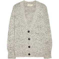 Vanessa Bruno Athé Chunky-knit cardigan ($340) ❤ liked on Polyvore