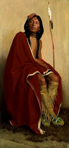 Native American Eanger Irving Couse Taos Elk Foot