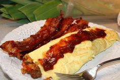 Corned Beef Hash Filled Omelets...