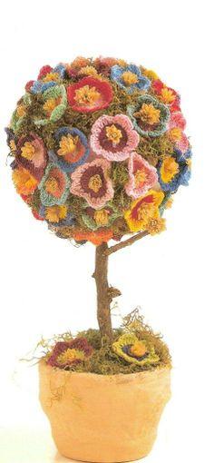 Colores flores en crochet