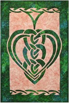 celtic hearts, tattoo ideas, quilting patterns, celtic knots, applique quilts pattern, applique patterns, appliques, celtic quilts, quilt patterns celtic