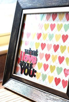 """""""What I love about you"""", Cameo Silhouette project"""