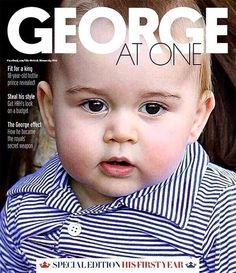 Almost one year old! Sunday's edition of Fabulous magazine, included inside The Sun newspaper, will be a special edition to celebrate Prince George's upcoming birthday on July 22. #PrinceGeorge