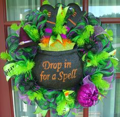 Hey, I found this really awesome Etsy listing at https://www.etsy.com/listing/194961011/happy-halloween-drop-in-for-a-spell-deco