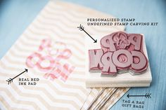 Carve your own popcorn stamp, or any stamp you wish with the Undefined Stamp Carving Kit! #StampinUp #Undefined