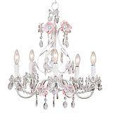 For a girl's room pink flower, girl room, flower garden, chandeliers, white, gardens, garden chandeli, light, flowers garden