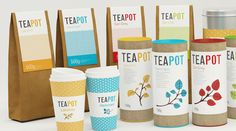 Tea Branding. Love the colors and the illustrations!