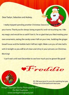 Elf on a Shelf - Letter idea More