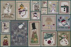 crossstitch idea, snowmen, crossstitch chart, christma crosstitch, snowman