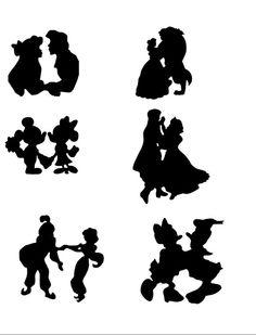 I would love to have some sort of Disney silhouette on all of our wedding things.  :)