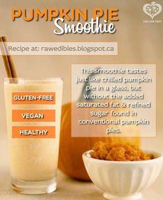 Raw Vegan Pumpkin Pie Smoothie