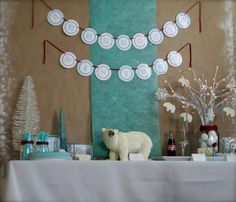 14 Crafts Ideas for the Best Polar Bear Party: Fireplace Igloo, Pin the Bear's Tail, Coloring and Arts Station Arctic Stop, Blue Jello, White Chocolate Pretzels. #kids #crafts polar bears, birthday parties, bear parti, polar bear party ideas, craft booths, kid birthdays, kid crafts, craft ideas