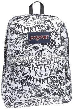 back to school backpack, backpack for teens, doodle jansport backpack, jansport backpack, jansport bag, jansport black white doodle, jansport doodle, school backpack