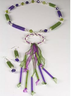 COILING GIZMO - NECKLACE & EARRINGS
