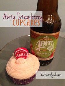 Abita Strawberry Cupcakes.