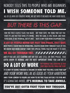 do a lot of work // by Ira Glass