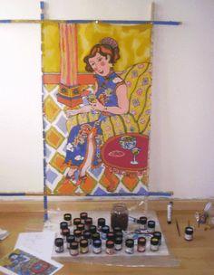 Curso GRATIS de Pintura  sobre seda online
