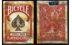 Bicycle Vintage Red Playing Cards. #playingcards #poker #games