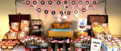 themed birthday parties, dessert tables, theme parties, pirate theme, birthday idea, pirat theme, parti idea, pirat parti, themed parties