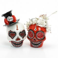 Skull Wedding Cake Topper A00163