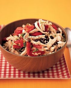 Chicken, Rice, and Black-Bean Salad -