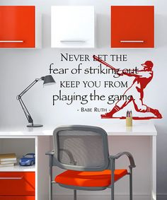 Black & Dark Red Strikeout Wall Quote