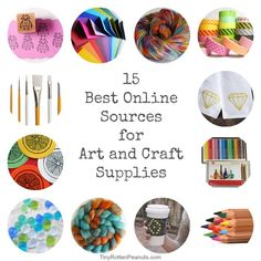 15 Super Places to Buy Art and Craft Supplies Online!
