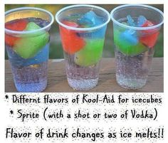 Colorful vodka drink