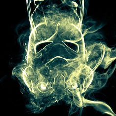 Stormtrooper made out of smoke effect