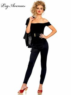 Womens Grease Bad Sandy Adult Costume | Sexy 50's Halloween Costumes. I remember as a teenager trying to perm my hair so I could look like this. What I ended up looking like was a blonde clown wig :(