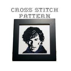 DIY Sherlock - Sherlock Holmes - .pdf Original Cross Stitch Pattern - Instant Download  $4.00 USD