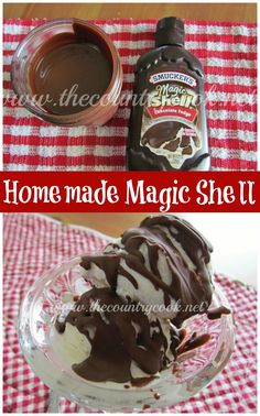 Homemade Magic Shell (only TWO ingredients!) | The Country Cook