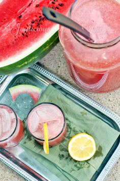 Watermelon Lemonade via Joylicious #healthy #hydrate