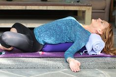 Fertility Yoga: 7 Easy Poses to Increase Fertility - Reclining Bound Angle Pose | Molly Sims