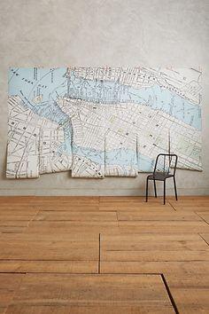 New York Map Mural #