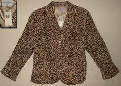NWT Pamela McCoy Genuine Leather Brown Black Animal Print Jacket Blazer XL 1x | eBay