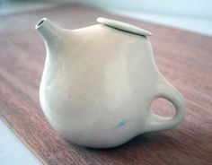 spot of tea, via clam lab's etsy shop: pear-shaped teapot