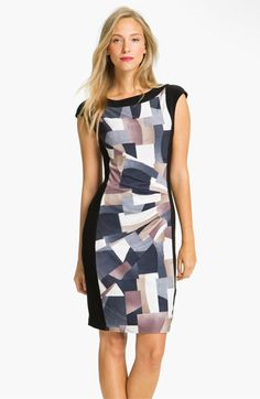 Alex & Ava Front Print Panel Jersey Dress